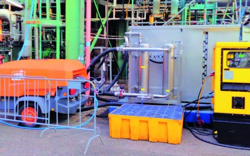 Project: olie spoelen op hoge snelheid en varnish verwijderen